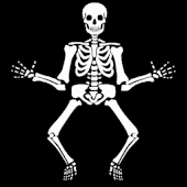Jumping Halloween Skeleton