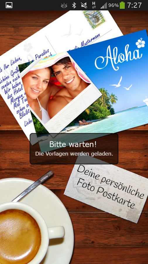 Foto Postkarte - screenshot