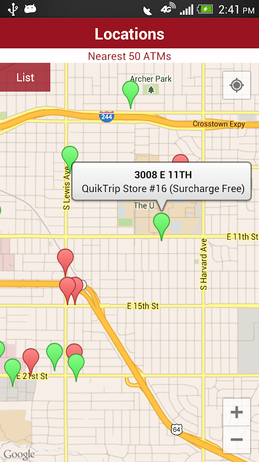 TransFund ATM Locator- screenshot