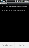 Screenshot of Club Events