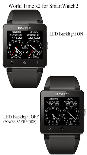 World Time x2 for SmartWatch2