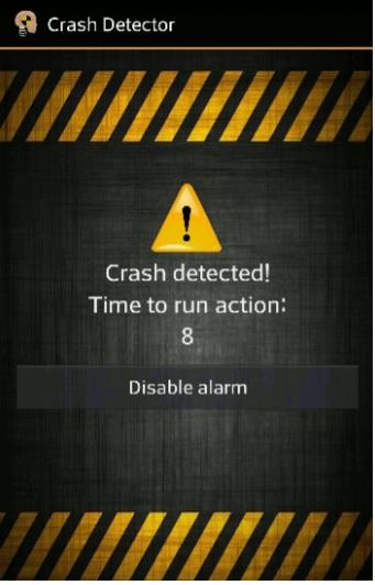 Crash Detector- screenshot