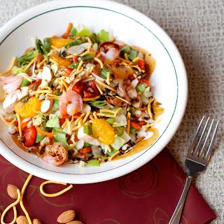 Asian Chopped Salad with Shrimp.