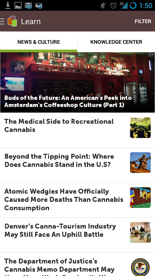 Leafly - screenshot