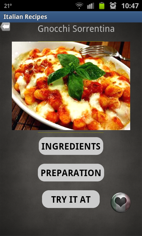 10Q Italian Recipes- screenshot