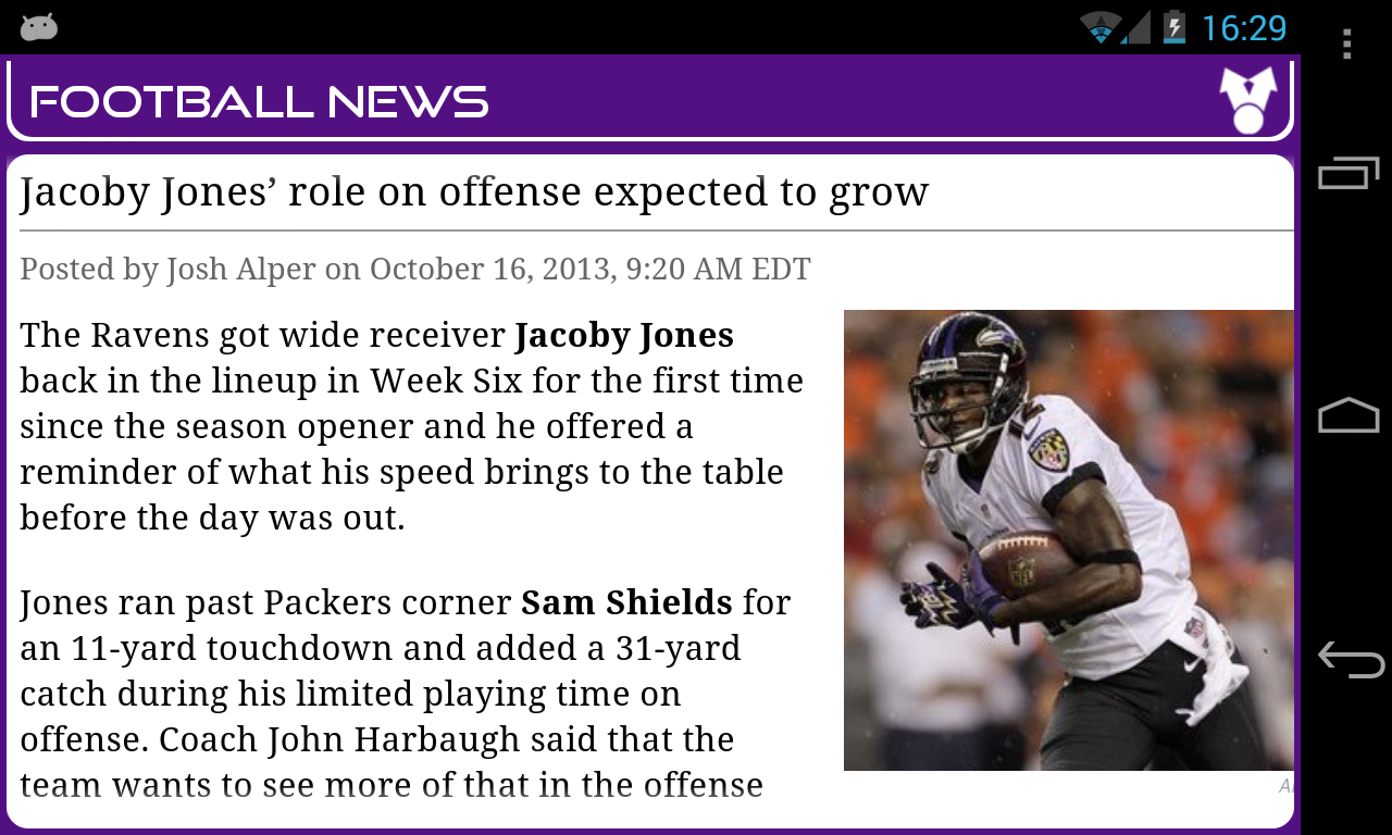 Baltimore Football News- screenshot