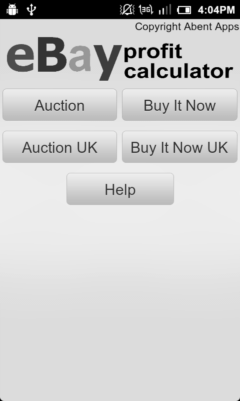 Calculator for eBay US & UK - screenshot