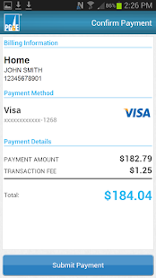 PG&E Mobile Bill Pay - screenshot thumbnail