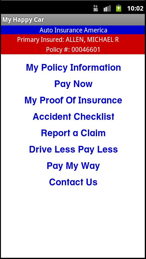 Auto Insurance America- screenshot