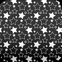 stars wallpaper black & white icon