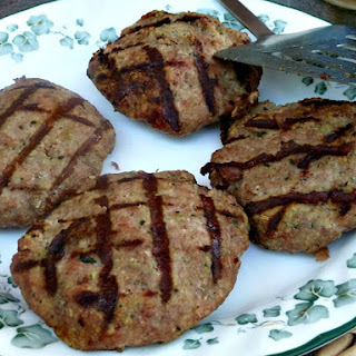 Savory Turkey Burgers with Bread Crumbs.
