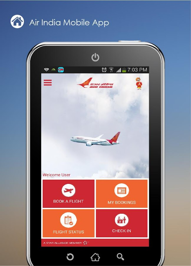 Air India- screenshot