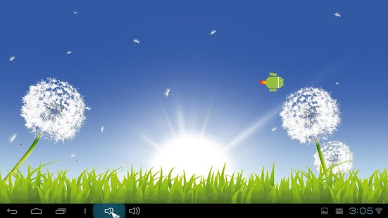 Nature: Sunny Dandelion LWP - screenshot thumbnail