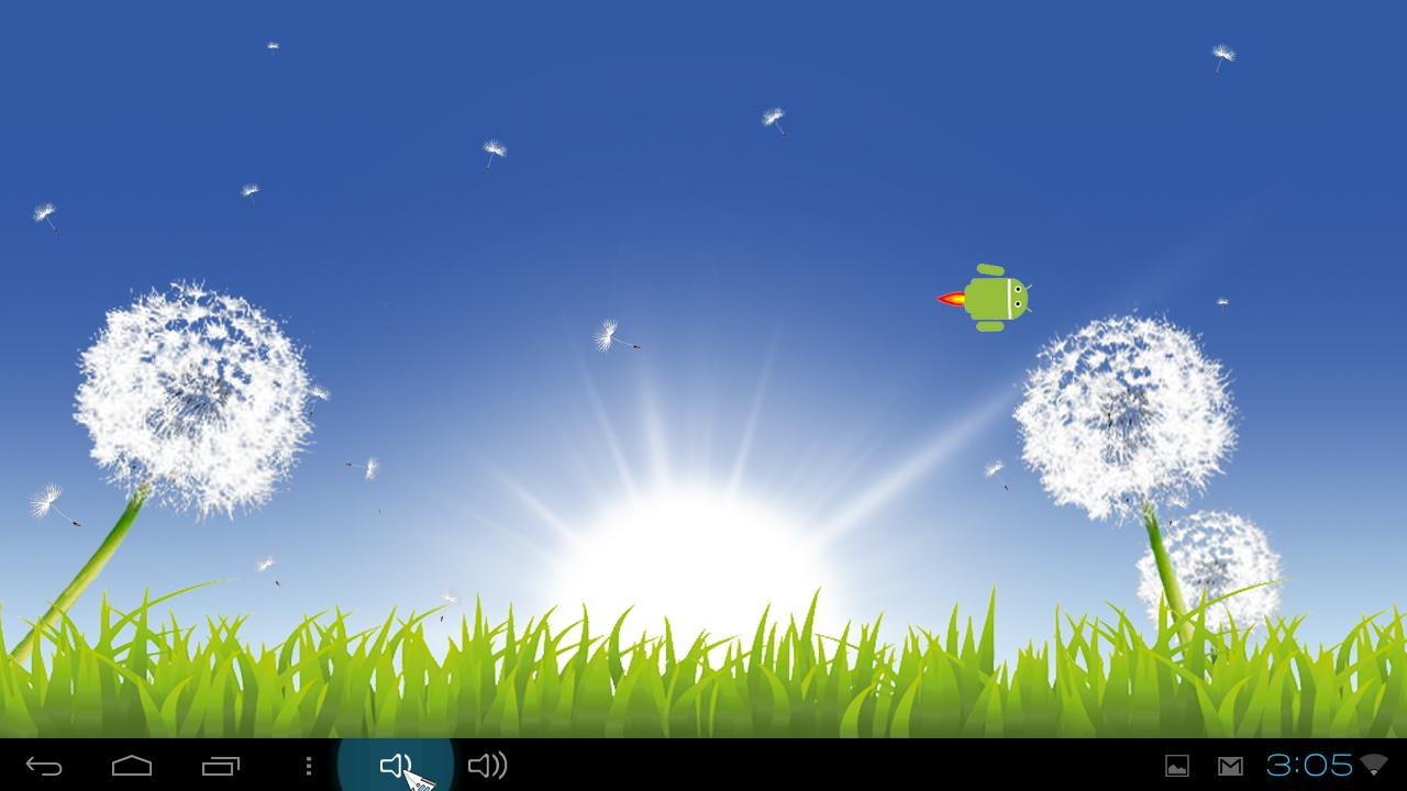 Nature: Sunny Dandelion LWP - screenshot