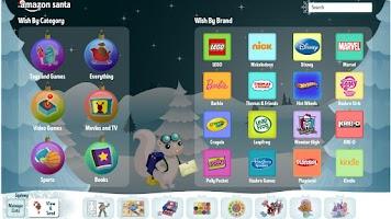 Screenshot of Amazon Santa