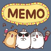 [Sale] Molang Ani Memo Widget