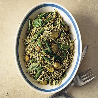 Trofie with Pesto, Green Beans, and Potatoes Recipe