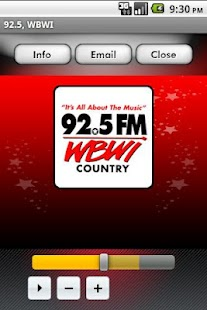 92.5 WBWI - screenshot thumbnail