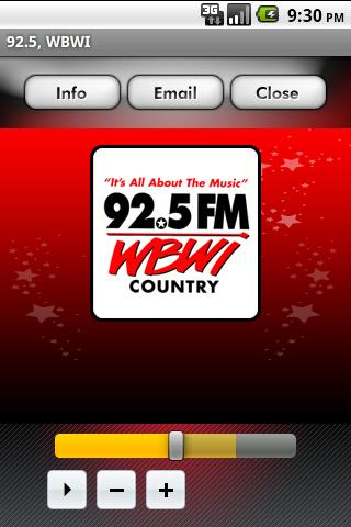 92.5 WBWI - screenshot
