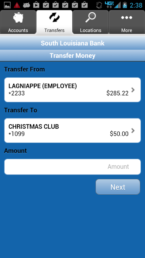 South Louisiana Bank Mobiliti - screenshot