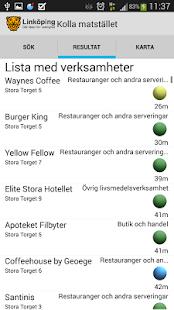 Kolla Matstället- screenshot thumbnail