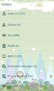 GO SMS Pro Forest Zoo themeEX - screenshot thumbnail
