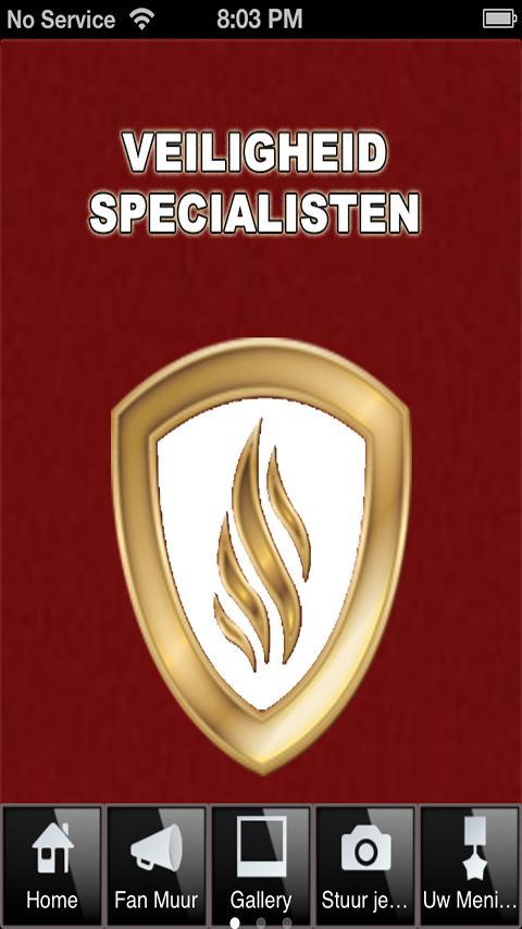 Veiligheid Specialisten - screenshot