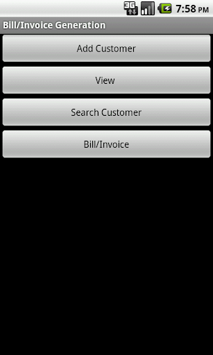 Bill Invoice Generation