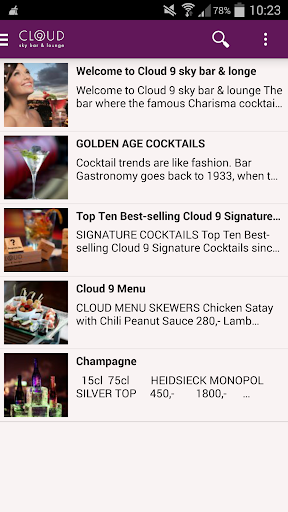 Cloud 9 sky bar lounge en