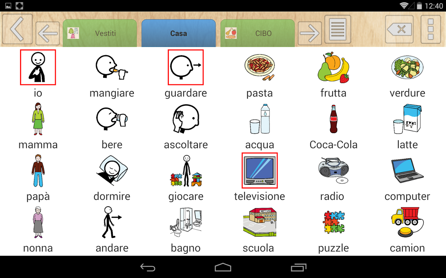 Estremamente Tabelle Comunicative TFAplugin - App Android su Google Play PH68
