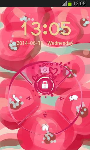 【免費個人化App】粉紅色的花朵GO鎖屏-APP點子