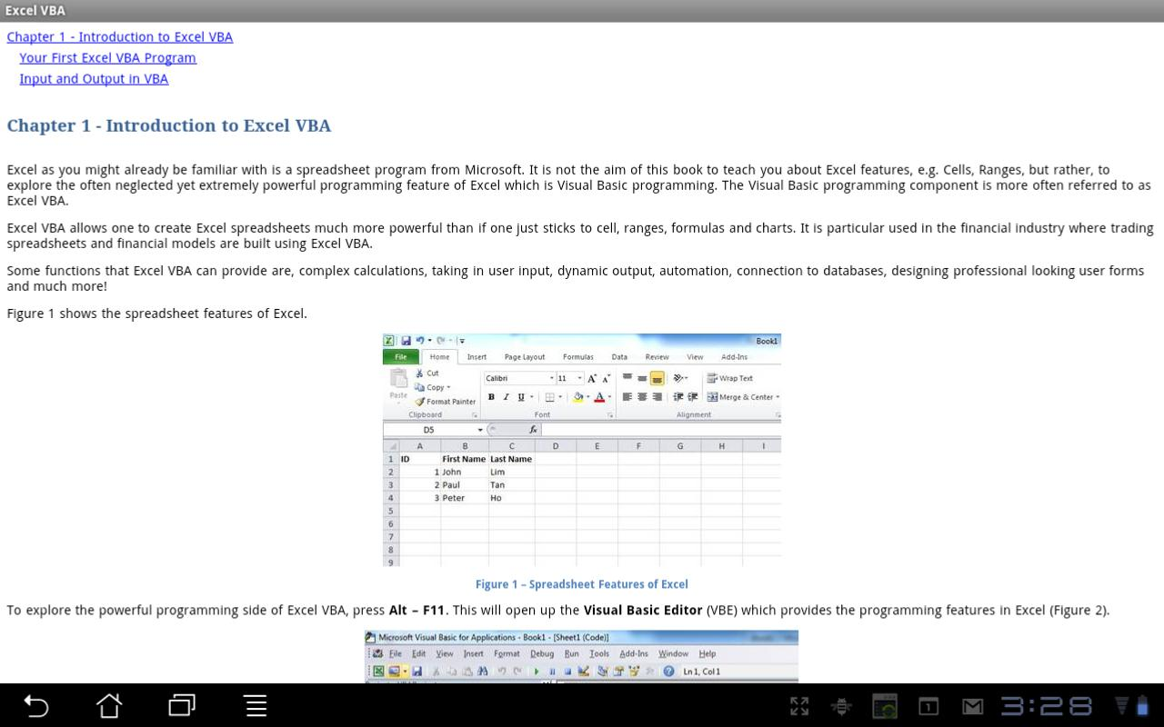 Beginning Excel VBA- screenshot