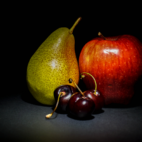 all you need by Veronika Gallova - Food & Drink Fruits & Vegetables ( still life fruit, colorful, still life, fine art, macro fruit, painting style, style, fresh, composition, unusual, healthy foods, light, painting, fruit, eating fruit, art, delicious, enjoy, close up, tasty, red, color, food, apple, background, artistic, healthy, natural, pear, Food & Beverage, meal, Eat & Drink,  )