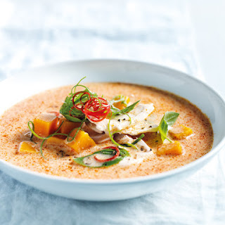 Thai-style Pumpkin, Chicken And Coconut Soup