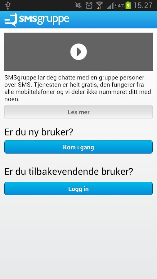 SMSgruppe - screenshot