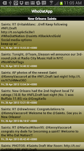 WhoDatApp - New Orleans Saints- screenshot thumbnail