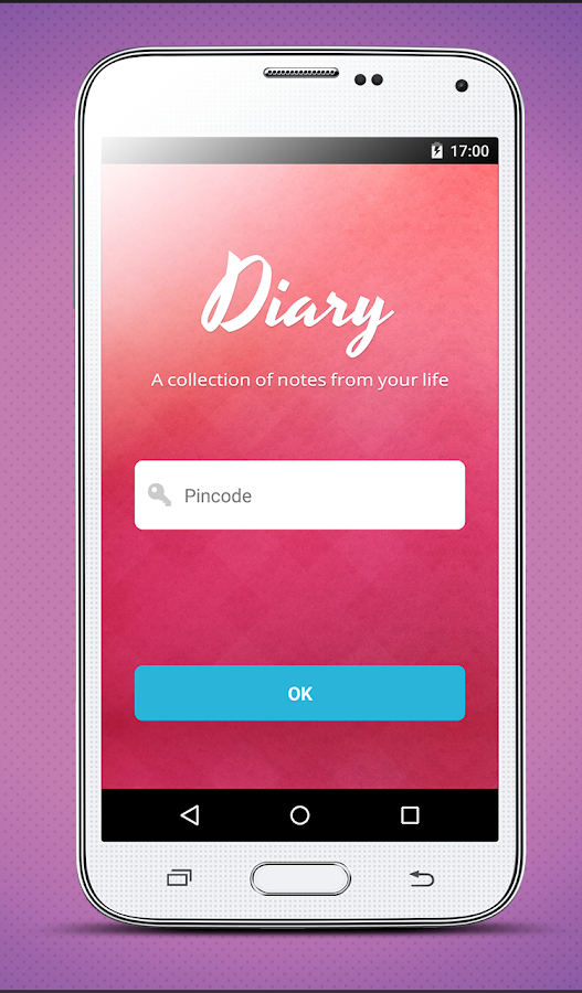 Diary notes - with lock - screenshot