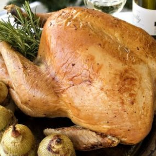 Roasted Turkey with Fig, Apple and Shallot Stuffing with Fresh Sage