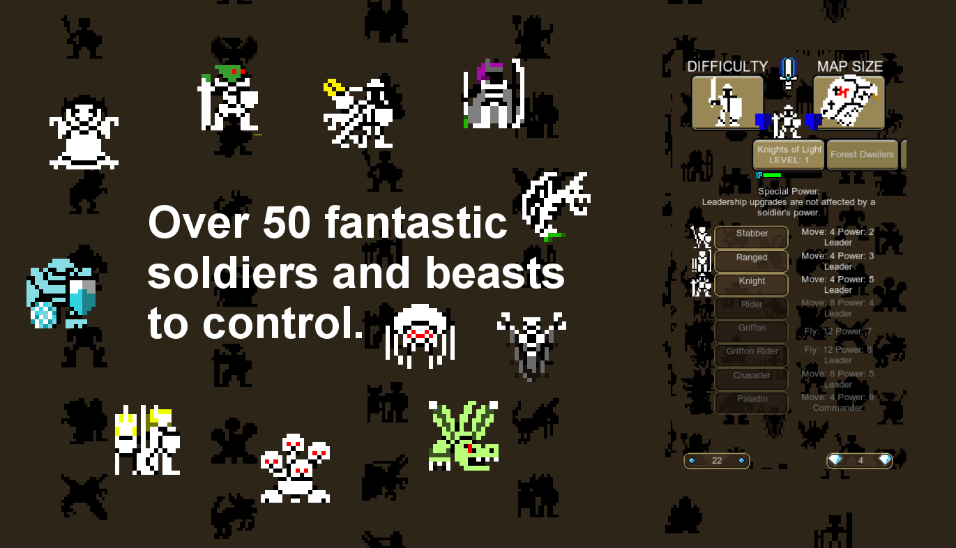 8 bit Warlords of Magic- screenshot