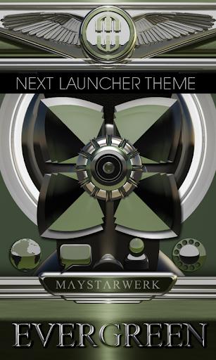 Next Launcher Theme Evergreen