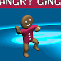 Angry gingerbread run icon