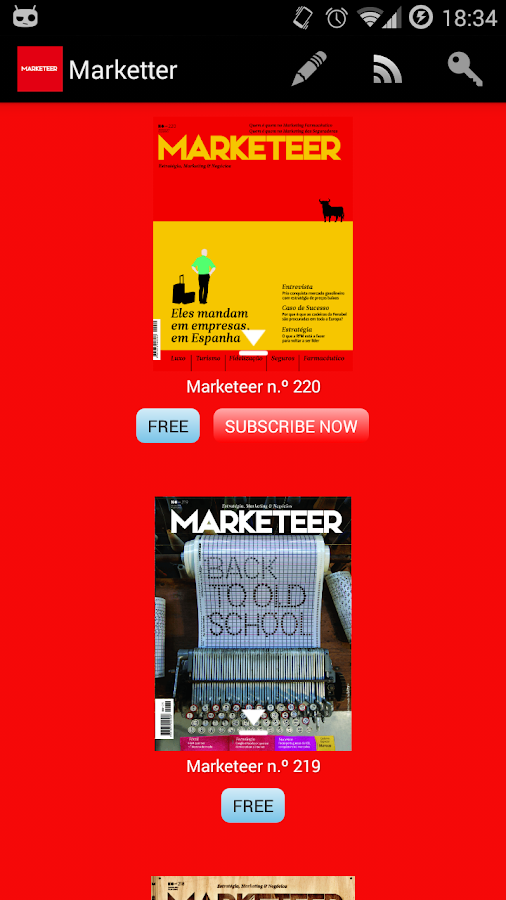 Marketeer- screenshot
