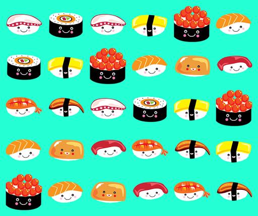 匹配的壽司。