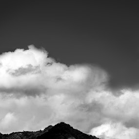 Pico Blanco by Jorge Madrigal - Landscapes Mountains & Hills ( sky, mountain, nature, black and white, landscape,  )