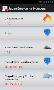 Japan Emergency Numbers