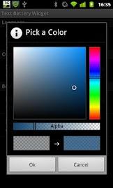Text Battery Widget Screenshot 4