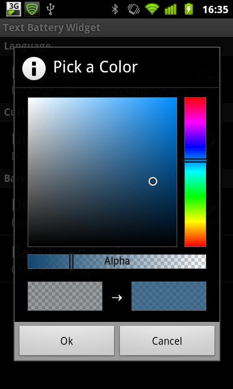 Text Battery Widget- screenshot