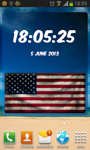 USA Digital Clock