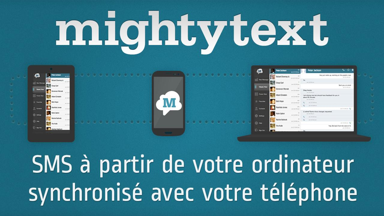 SMS Gratuit↔PC (Firefox/Chrome - screenshot