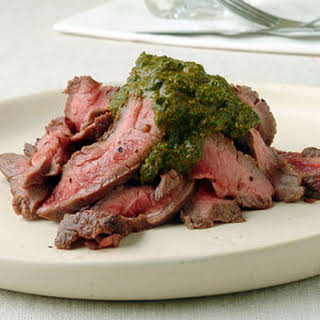 Pan-Grilled Flank Steak with Chermoula.